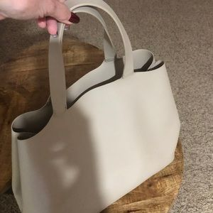 Zara Taupe Faux Leather Tote